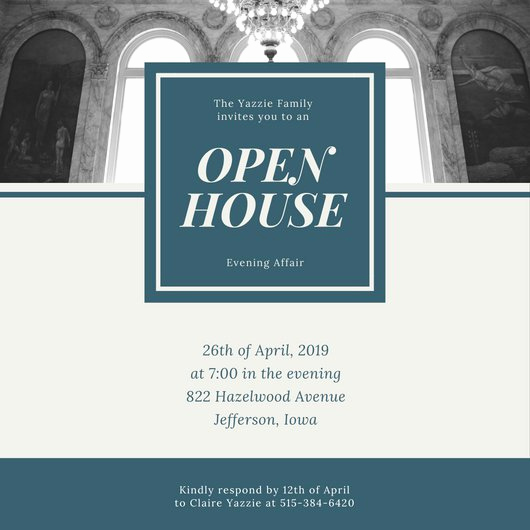 Business Open House Invitation Wording Unique Customize 498 Open House Invitation Templates Online Canva