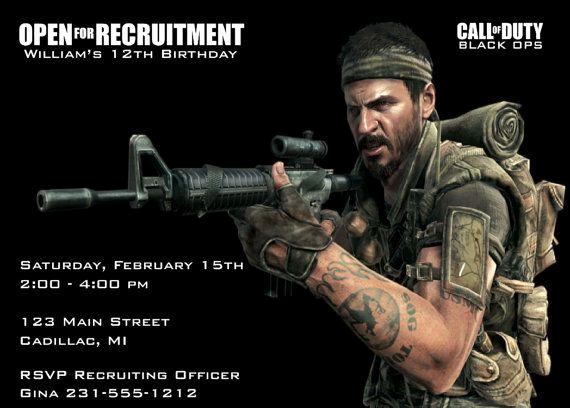 Call Of Duty Invitation Template Luxury Call Of Duty Invitation Call Of Duty Birthday Party