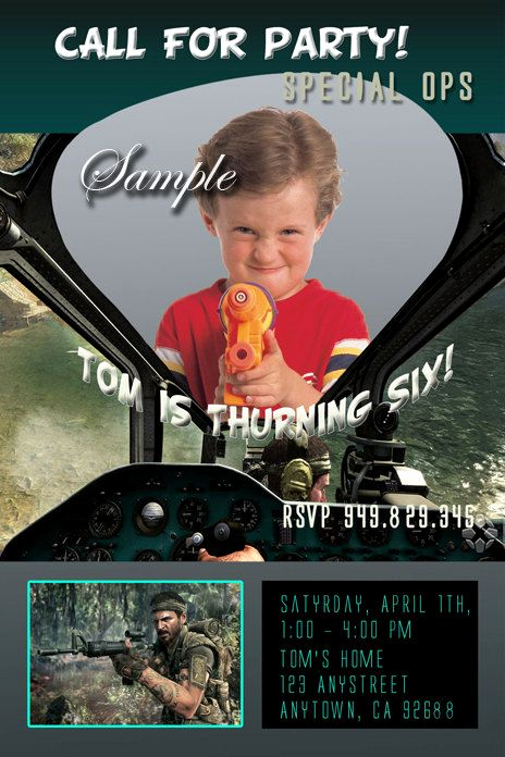 Call Of Duty Invitation Template New Call Of Duty Black Ops Invitations Birthday Invitations