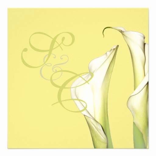 Calla Lily Wedding Invitation Best Of Calla Lilies Wedding Invitations