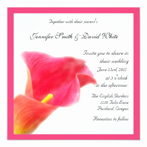 Calla Lily Wedding Invitation Inspirational Red Calla Lily Wedding Invitation