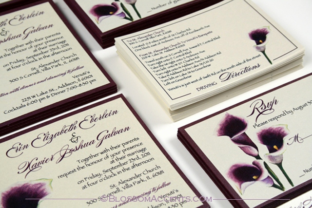 Calla Lily Wedding Invitation Inspirational Wedding Blossoms Purple Calla Lily Wedding Invitation