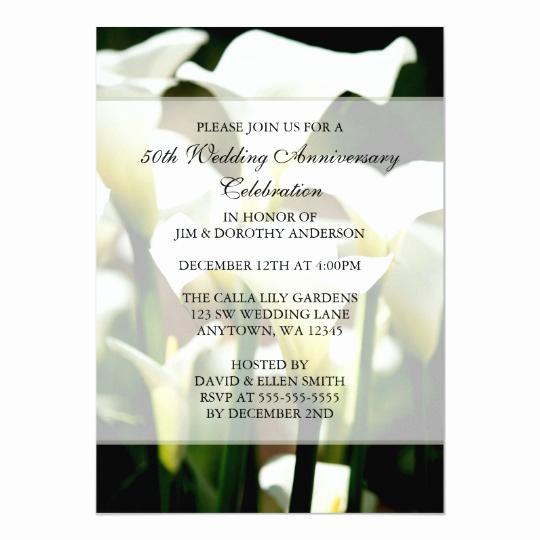 Calla Lily Wedding Invitation Inspirational Wedding Invitation Satin Look Calla Lilies