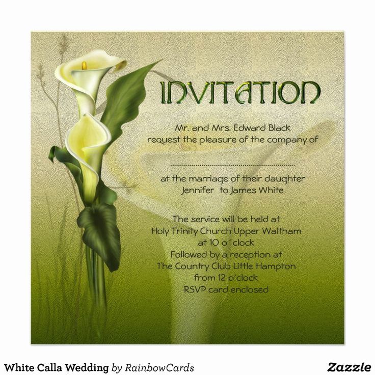 Calla Lily Wedding Invitation Luxury 19 Best Calla Lily Wedding Invitations Images On Pinterest
