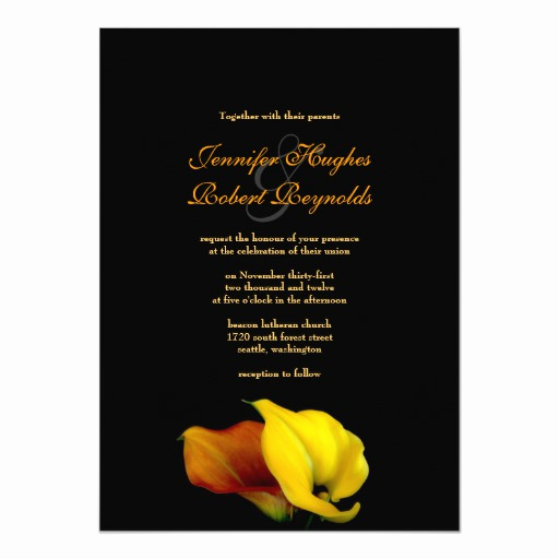 Calla Lily Wedding Invitation Luxury Calla Lily Wedding Invitation