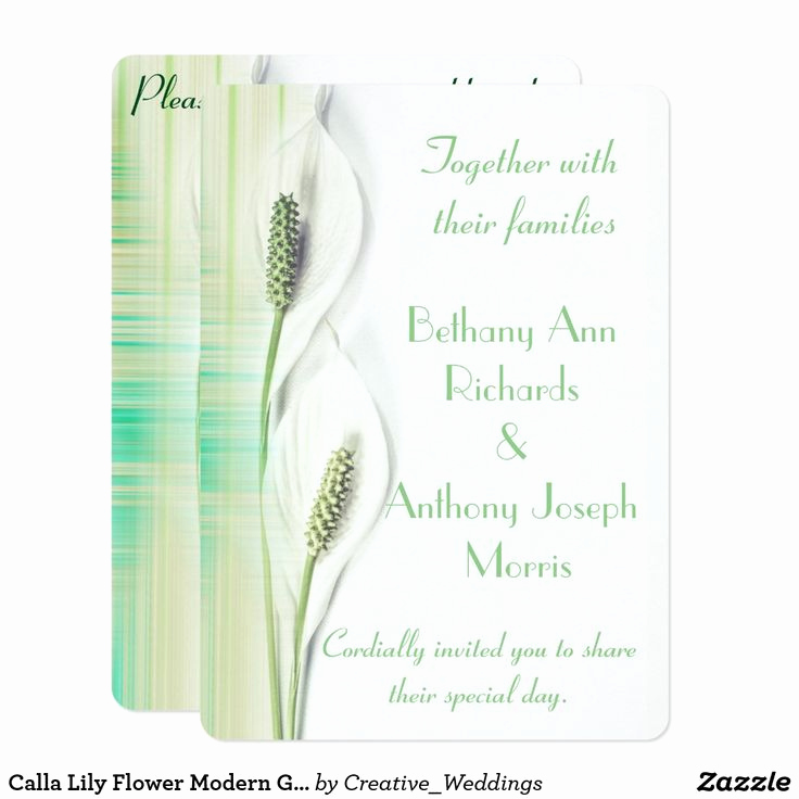 Calla Lily Wedding Invitation New 18 Best Calla Lily Wedding Invitations Images On Pinterest