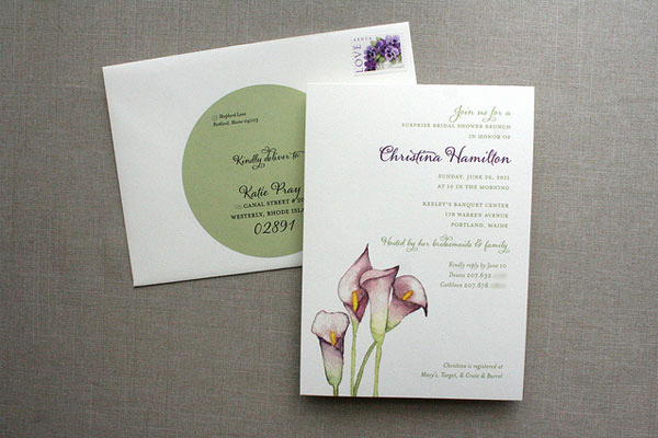 Calla Lily Wedding Invitation New Floral Watercolor Shower Invitations