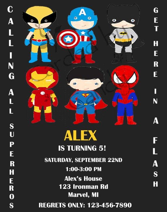 Calling All Superheroes Invitation Beautiful Calling All Superheros Birthday Party Invitation by