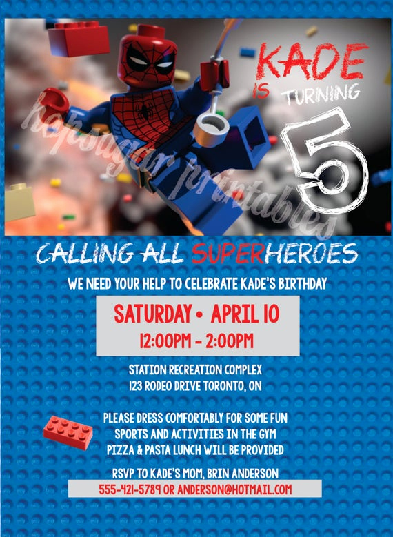 Calling All Superheroes Invitation Best Of Calling All Superheros Birthday Invitation Digital File Lego