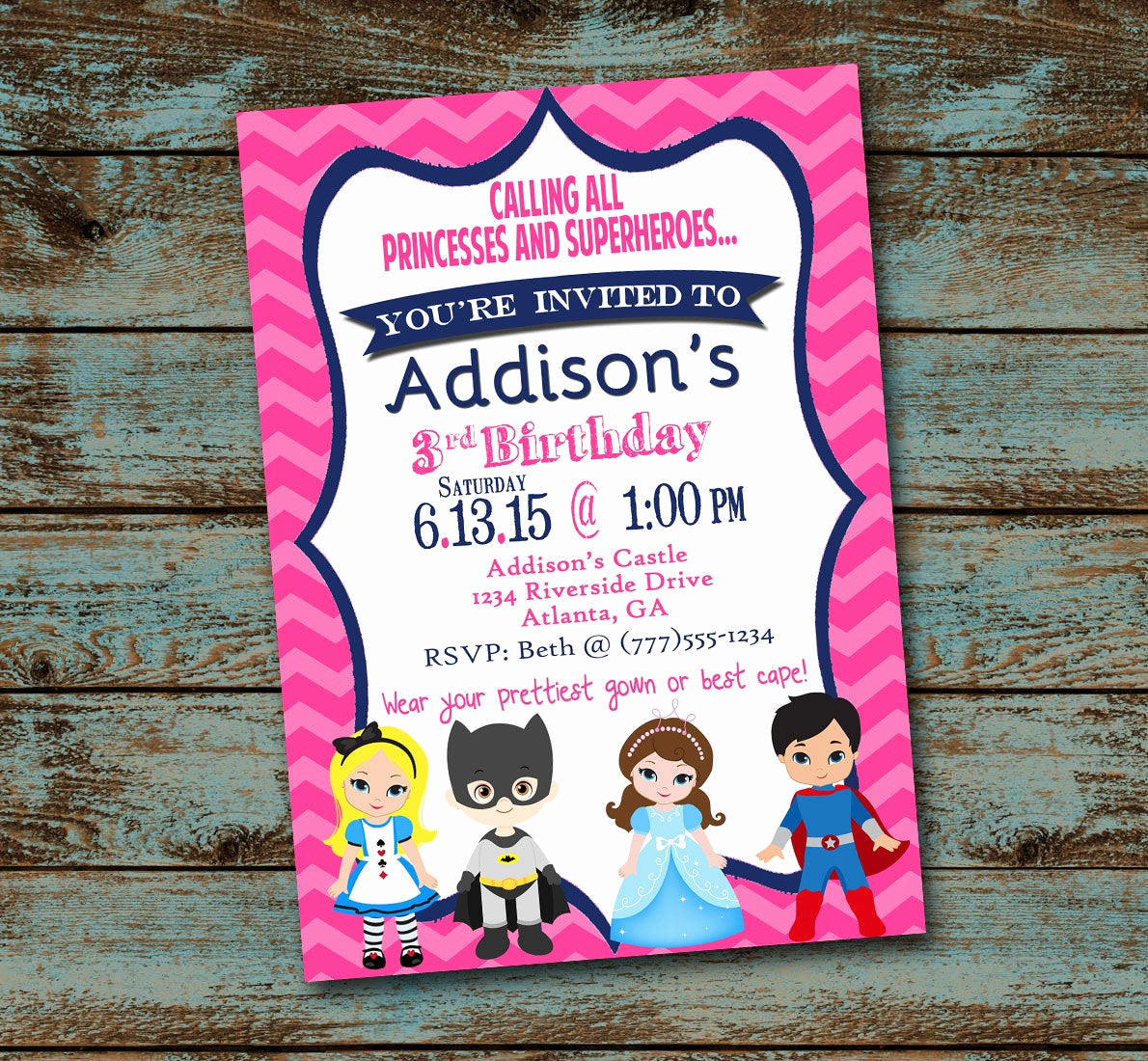 Calling All Superheroes Invitation Best Of Princess and Superhero Birthday Party Invitation Calling All