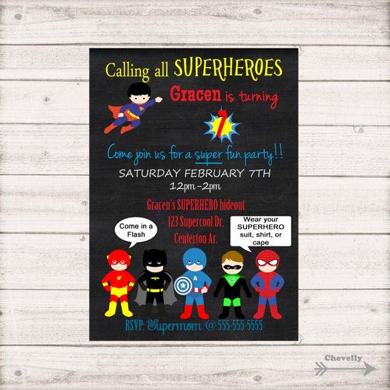 Calling All Superheroes Invitation Elegant Calling All Superheroes Birthday Invitation Printable Inv001