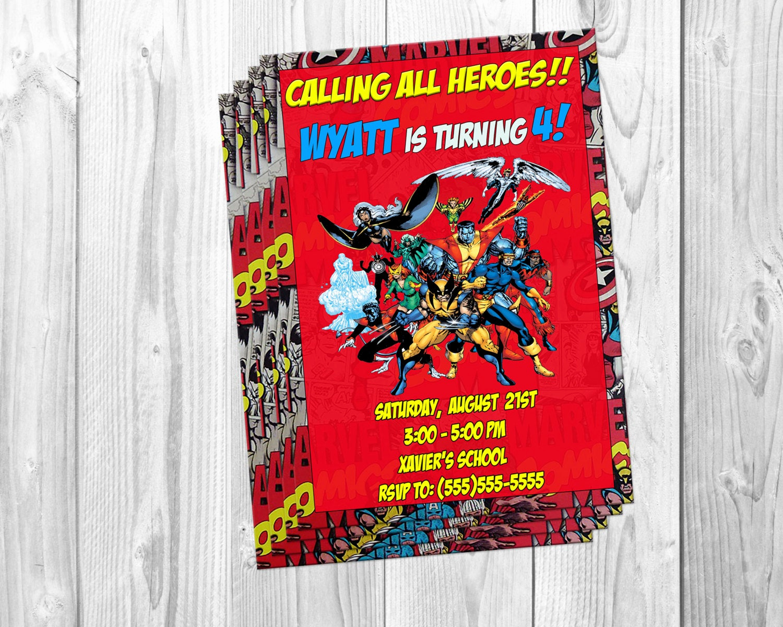 Calling All Superheroes Invitation Fresh Marvel X Men Birthday Party Invitations Xmen Avengers Super