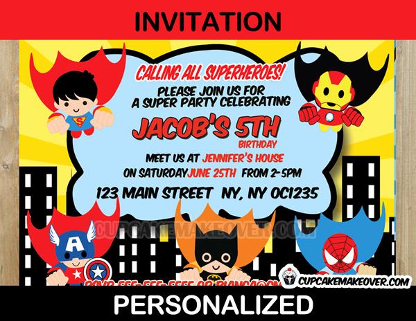 Calling All Superheroes Invitation Inspirational Action Superhero Ic Party Yellow Invitation Card