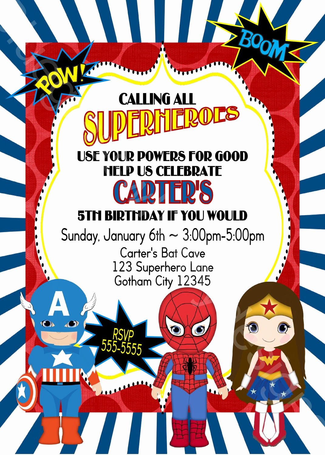 Calling All Superheroes Invitation Lovely Calling All Superheroes Birthday Party Invitation Boy or