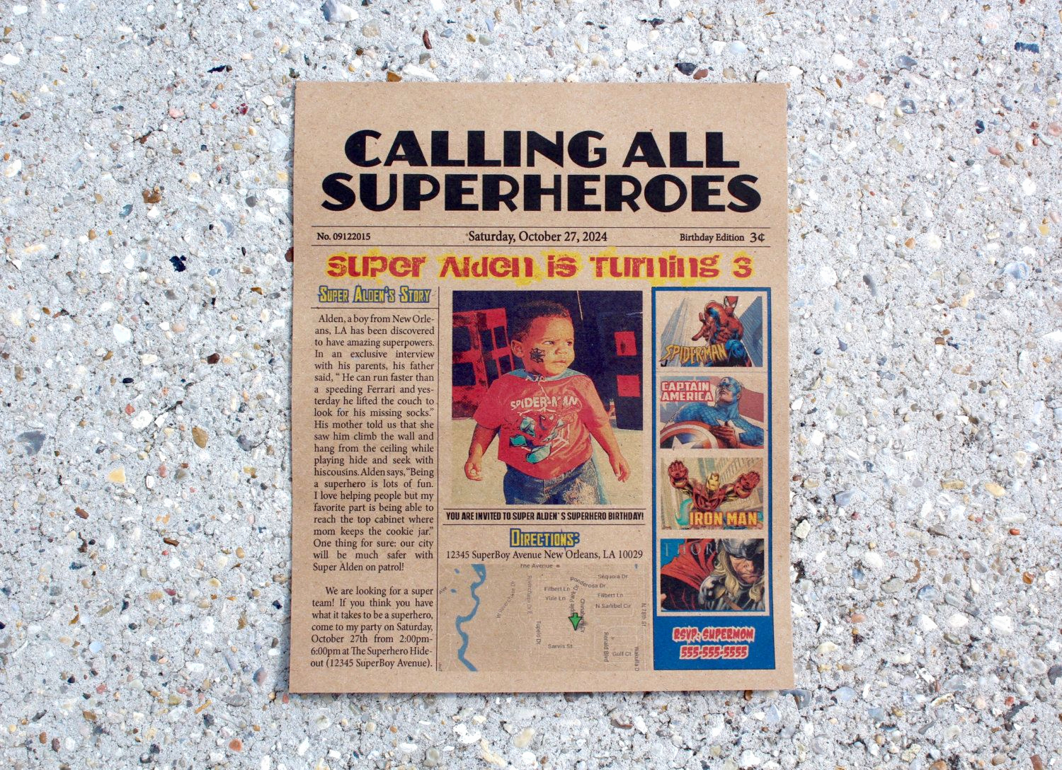 Calling All Superheroes Invitation Lovely Calling All Superheroes Newspaper Invitation