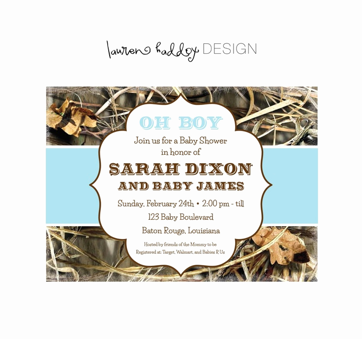 Camo Baby Shower Invitation Awesome Baby Shower Camo Invitations Party Xyz