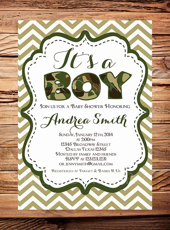 Camo Baby Shower Invitation Awesome It S A Boy Baby Shower Invitation Camouflage by