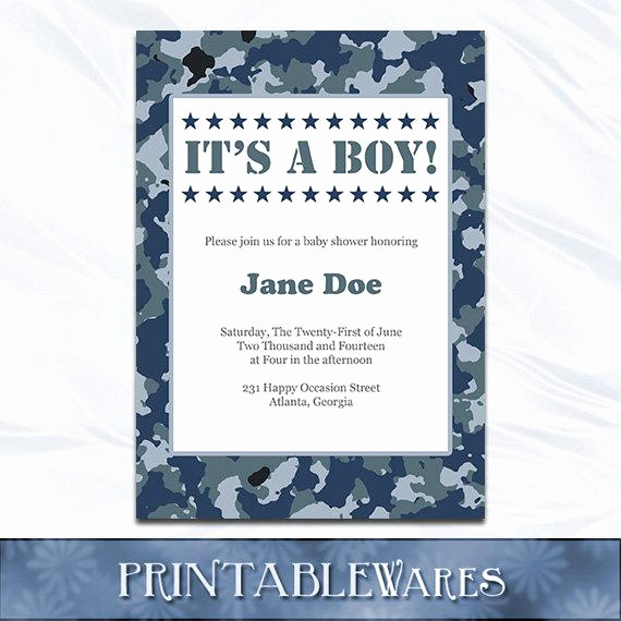 Camo Baby Shower Invitation Best Of Items Similar to Camo Baby Shower Invitation Navy