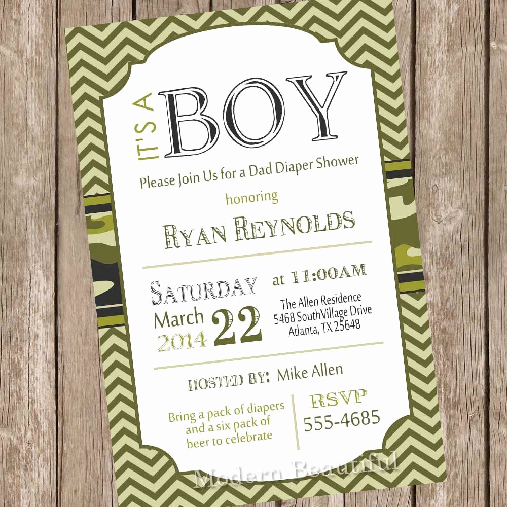 Camo Baby Shower Invitation Fresh Camo Baby Shower Invitation Army Baby Shower Invitation