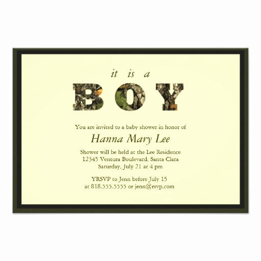 "Camo Baby Shower Invitation Fresh Camo It S A Boy Baby Shower Invitation 3 5"" X 5"