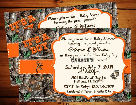 Camo Baby Shower Invitation Luxury Camo Baby Showers On Pinterest