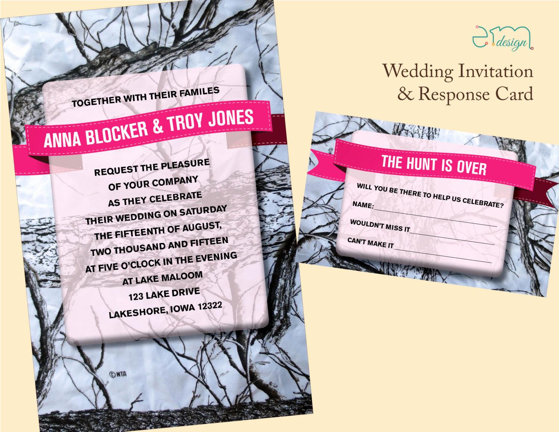 Camo Wedding Invitation Templates Awesome Camo Wedding Invitation Hunt is Over Rsvp Card Camouflage