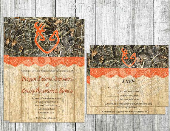 Camo Wedding Invitation Templates Awesome Wedding Printable Invitation and Rsvp Camoflauge by