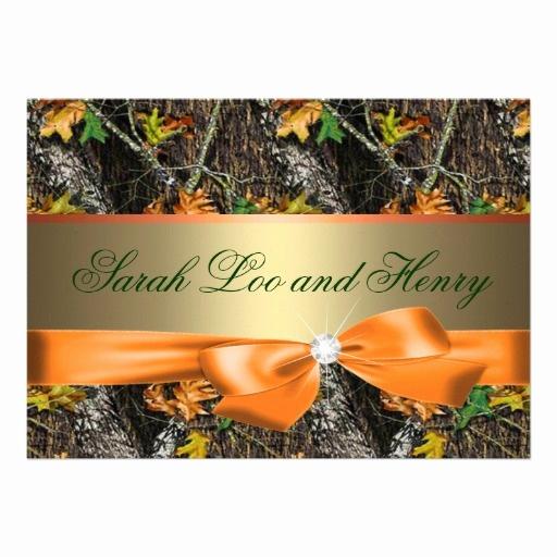 Camo Wedding Invitation Templates Beautiful orange formal Camo Wedding Invitation Templates for Your