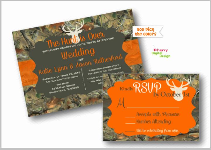 Camo Wedding Invitation Templates Elegant 18 Camo Wedding Invitation Designs & Templates Psd Ai
