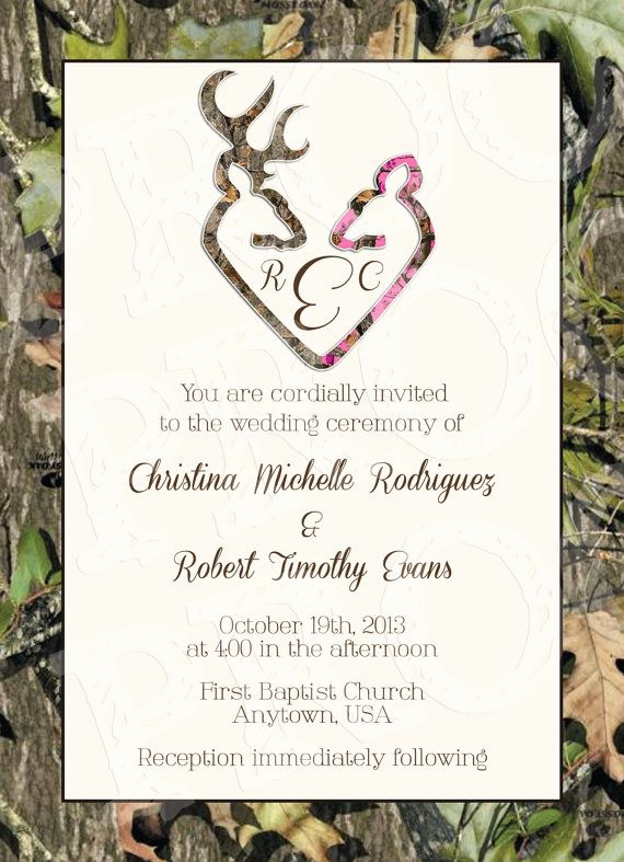 Camo Wedding Invitation Templates Elegant Camo Wedding Invitation Printable Free