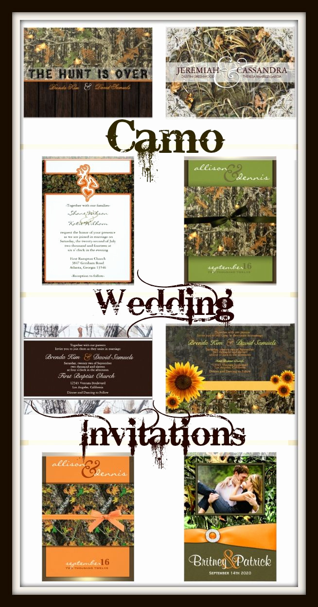 Camo Wedding Invitation Templates Inspirational Best 25 Hunting theme Weddings Ideas On Pinterest