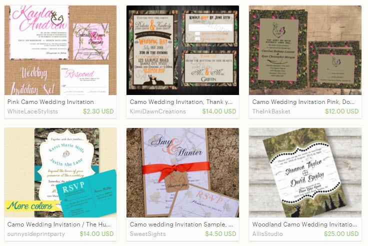 Camo Wedding Invitation Templates Inspirational Free Printable Camo Wedding Invitations