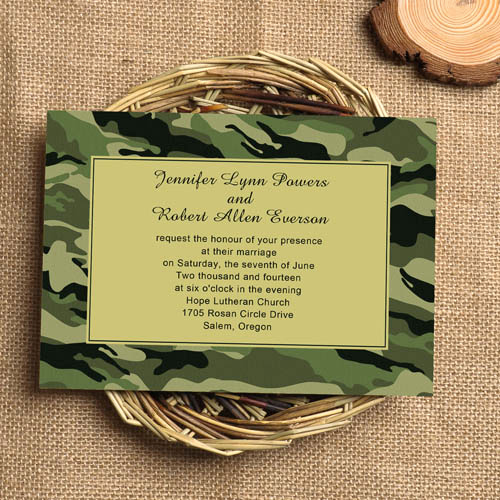 Camo Wedding Invitation Templates Lovely 42 Cool Camo Wedding Ideas for Country Style Enthusiasts