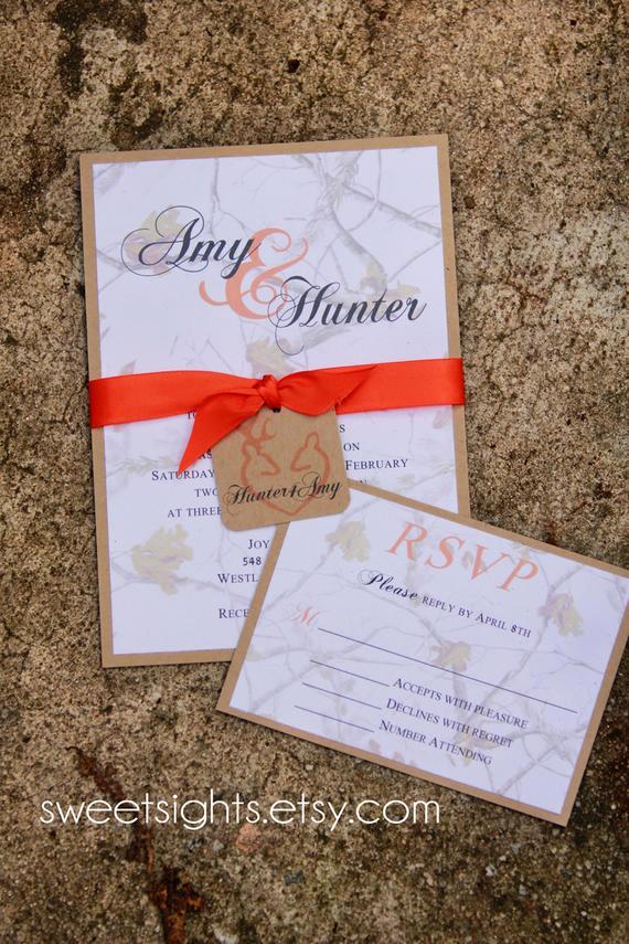 Camo Wedding Invitation Templates Lovely Items Similar to Camo Wedding Invitation Sample Rustic