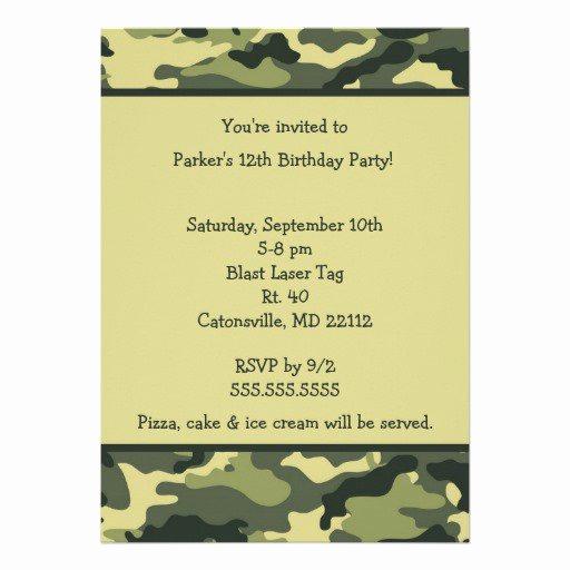 Camo Wedding Invitation Templates Luxury Free Printable Camouflage Invitations