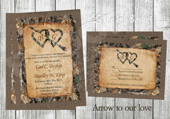 Camo Wedding Invitation Templates Luxury Printable Wedding Invitations Arrow to Our Lovebirthday