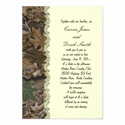 Camo Wedding Invitation Templates New Camo Camouflage Wedding Invitation