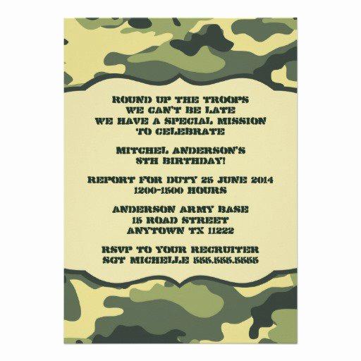 Camo Wedding Invitation Templates New Free Printable Camouflage Invitations