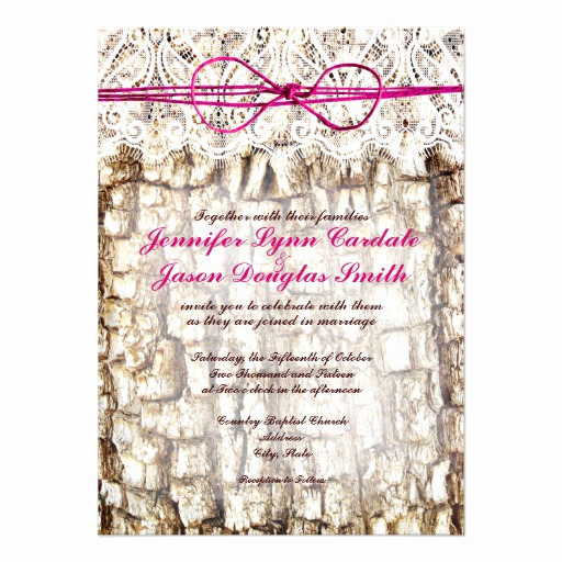 "Camo Wedding Invitation Templates New Rustic Country Camo Pink Bow Wedding Invitations 4 5"" X 6"
