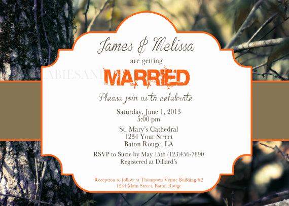 Camo Wedding Invitation Templates Unique Items Similar to Real Tree Camo Wedding Invitation