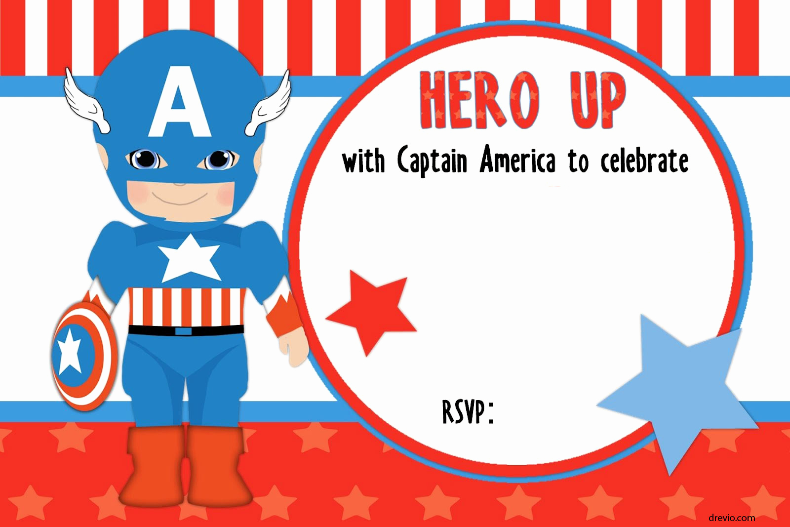 Captain America Invitation Template Best Of Free Printable Captain America Birthday Invitation