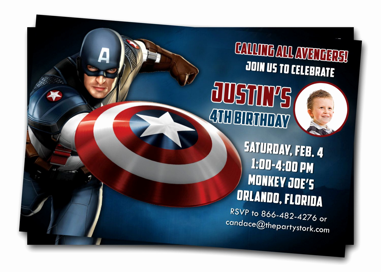 Captain America Invitation Template Fresh Captain America Invitations Printable Boys Birthday Party