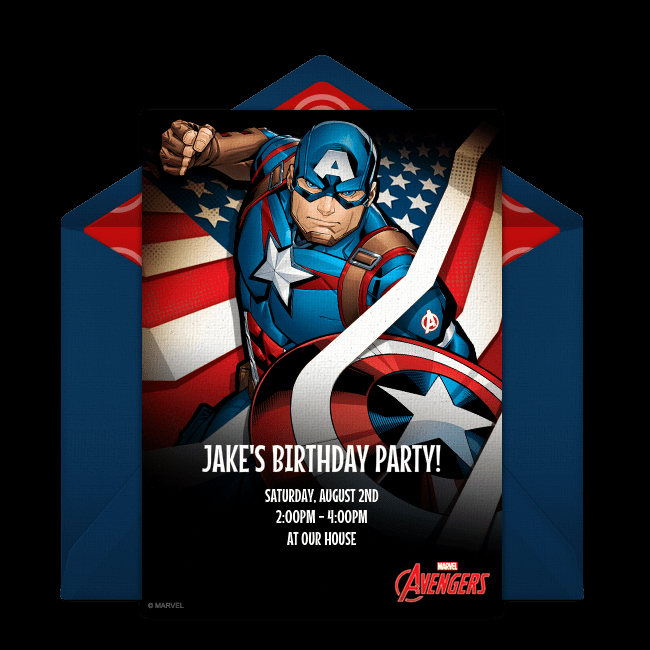 Captain America Invitation Template Fresh Superhero Party Ideas Avengers Party Games Decor Food