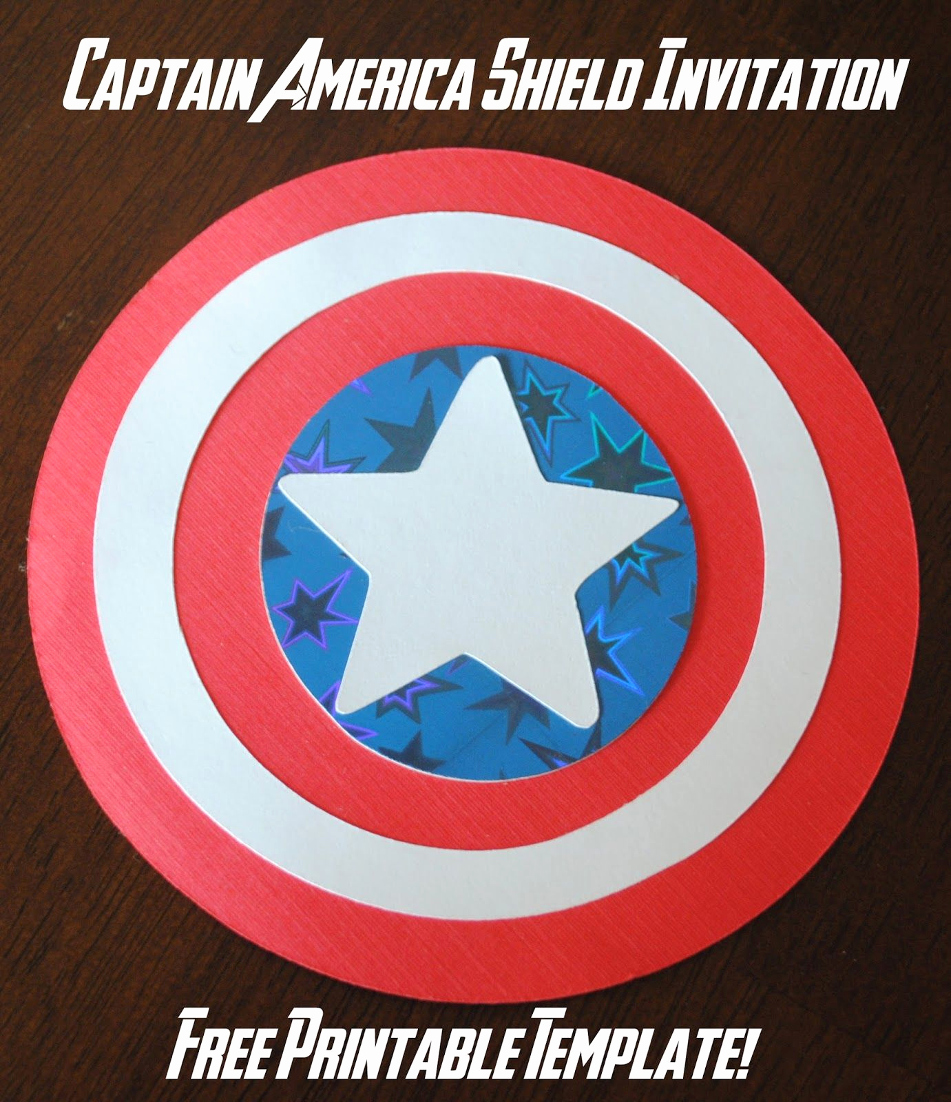 Captain America Invitation Template Inspirational Captain America Shield Invitations Free Printable Template