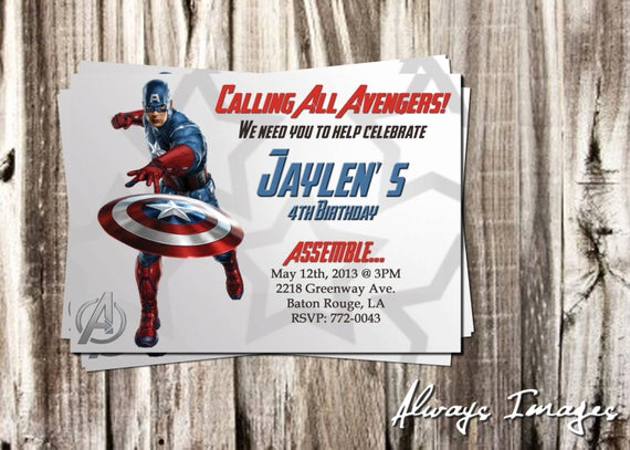 Captain America Invitation Template Inspirational Items Similar to Birthday Invitation Template Captain