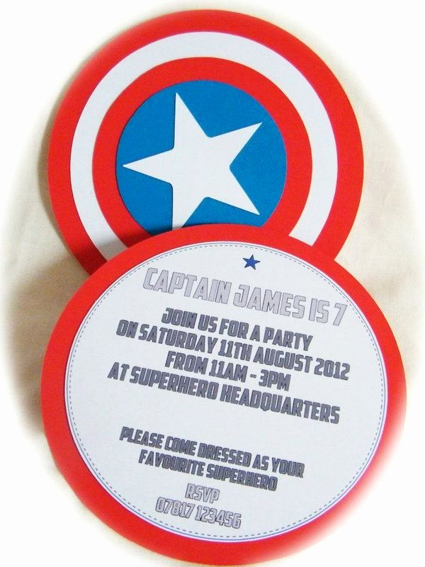 Captain America Invitation Template Luxury 20 Best Children S Handmade Invitations Images On