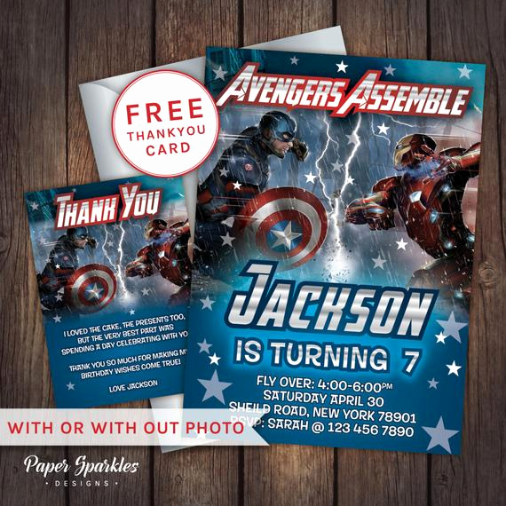 Captain America Invitation Template Luxury Civil War Invitation Captain America by Papersparkledesigns