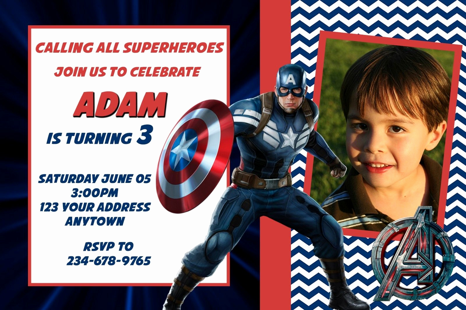Captain America Invitation Template Luxury Joint Birthday Party Invitation Wording for Adults