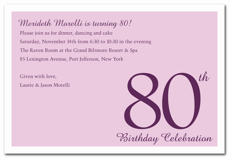 Card Shower Invitation Wording Best Of 80th Birthday Invitations Templates Free