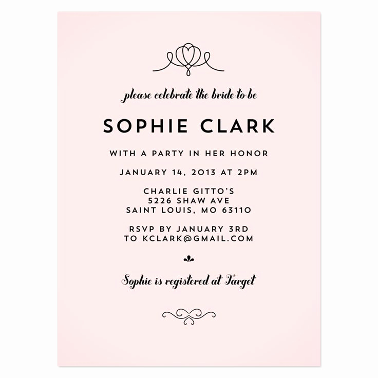 Card Shower Invitation Wording Elegant Bridal Shower Invitation Wording References